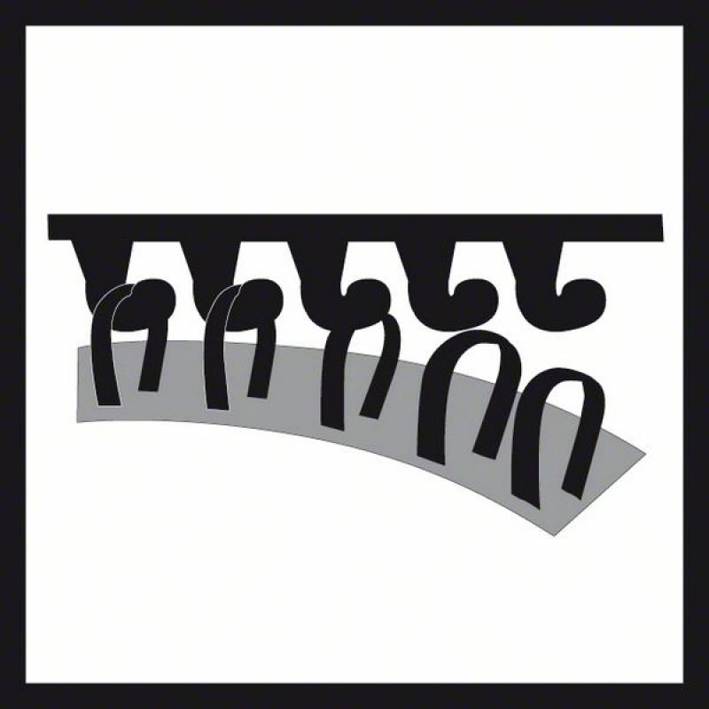 125 mm für GEX 125-1 AE Professional Bosch Schleifteller hart